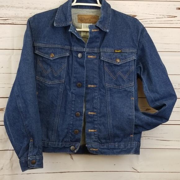 97132e46 Wrangler Jackets & Coats   Mens Authentic Western Jean Jacket Sz S ...